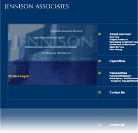 screenshot of Jennison Associates web site
