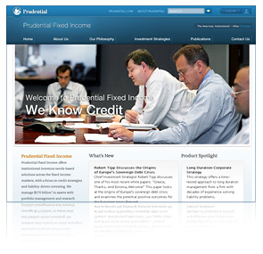 Prudential Fixed Income web site